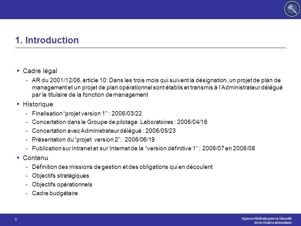 1. Introduction Cadre légal Historique Contenu