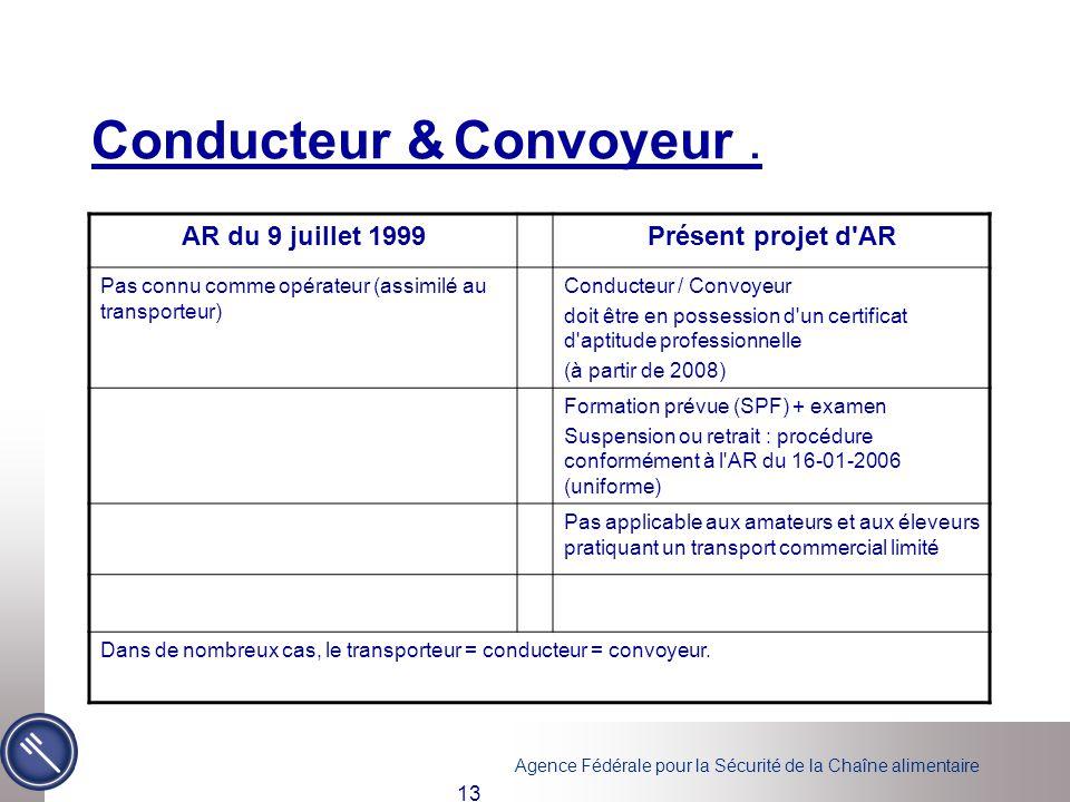 Conducteur & Convoyeur .