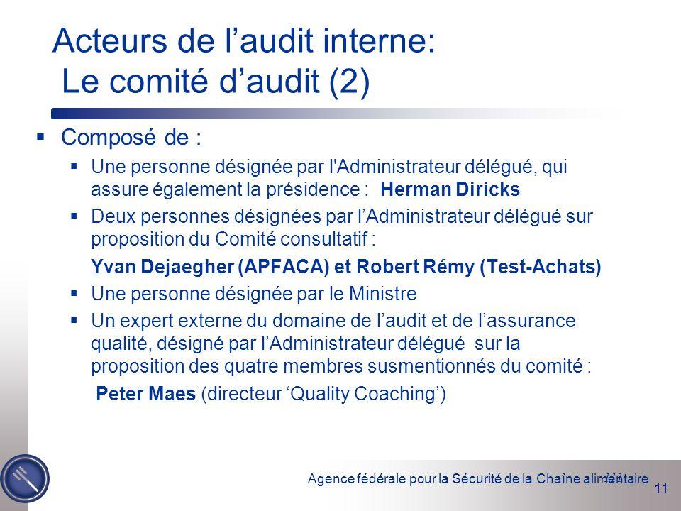 Acteurs de l'audit interne: Le comité d'audit (2)