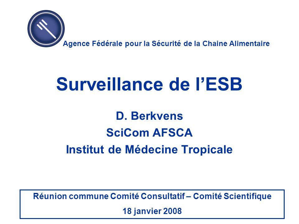 D. Berkvens SciCom AFSCA Institut de Médecine Tropicale