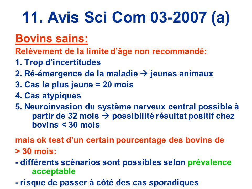 11. Avis Sci Com 03-2007 (a) Bovins sains: