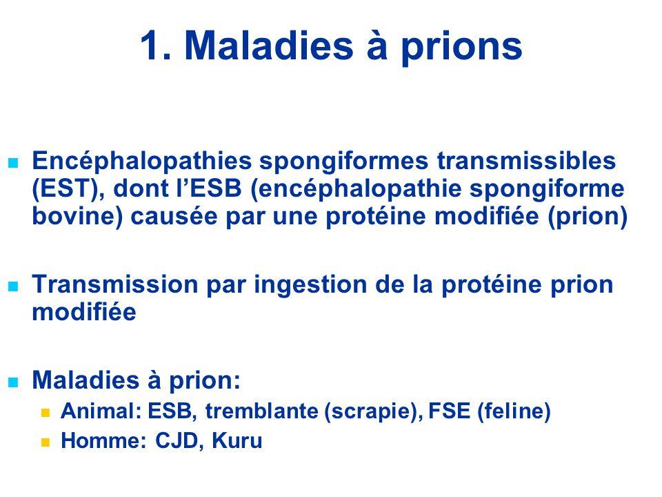 1. Maladies à prions