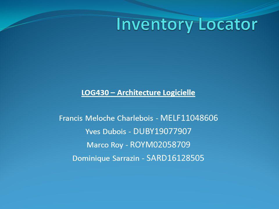 LOG430 – Architecture Logicielle