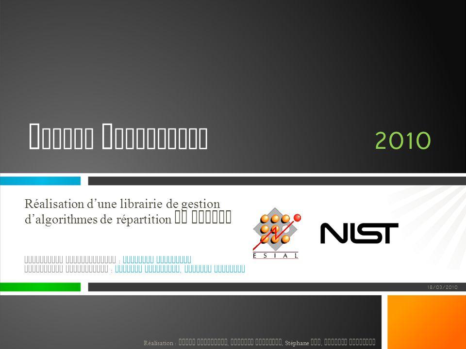 Projet Industriel 2010. Réalisation d'une librairie de gestion d'algorithmes de répartition de charge.