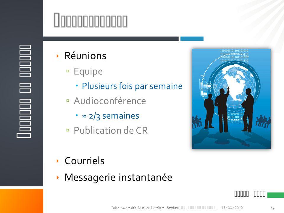Communication Gestion de projet Réunions Courriels