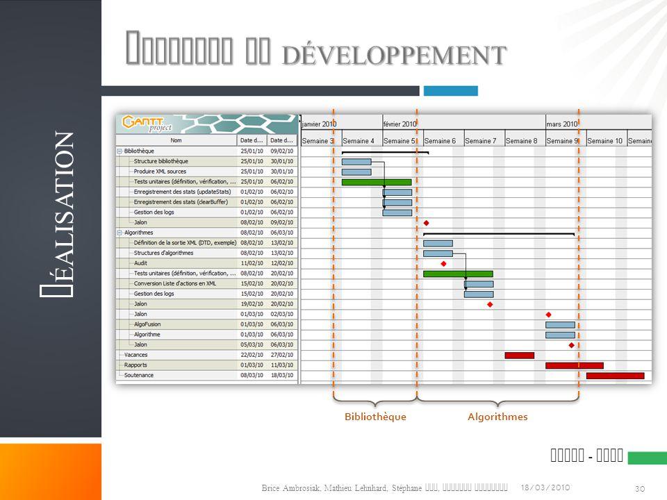 Planning de développement