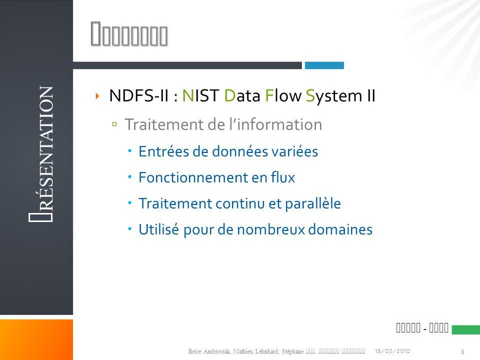 Contexte Présentation NDFS-II : NIST Data Flow System II