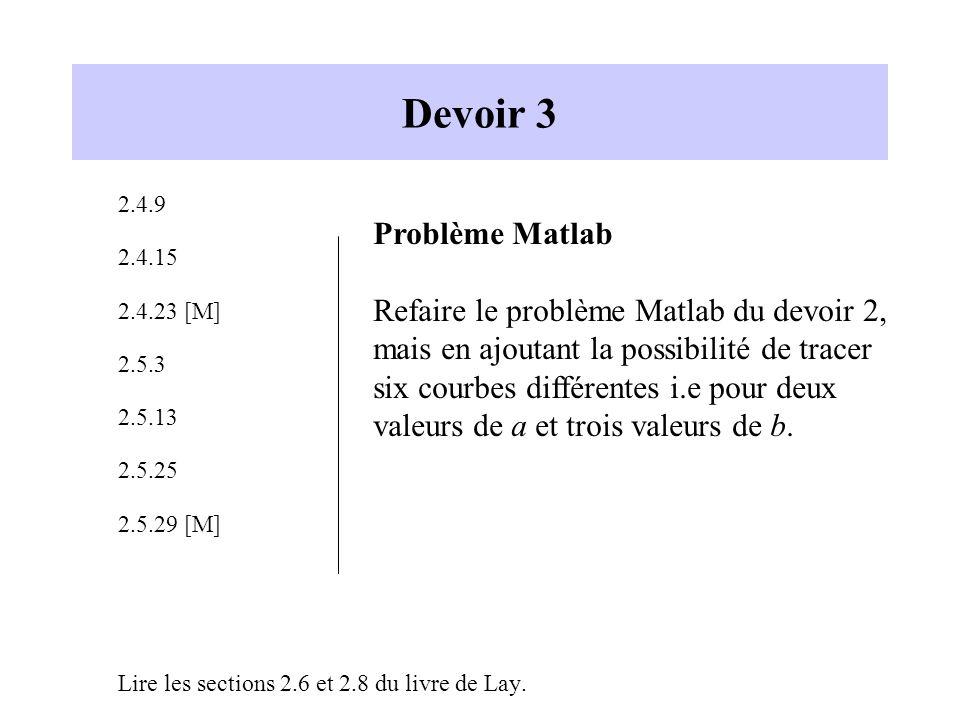 Devoir 3 Problème Matlab