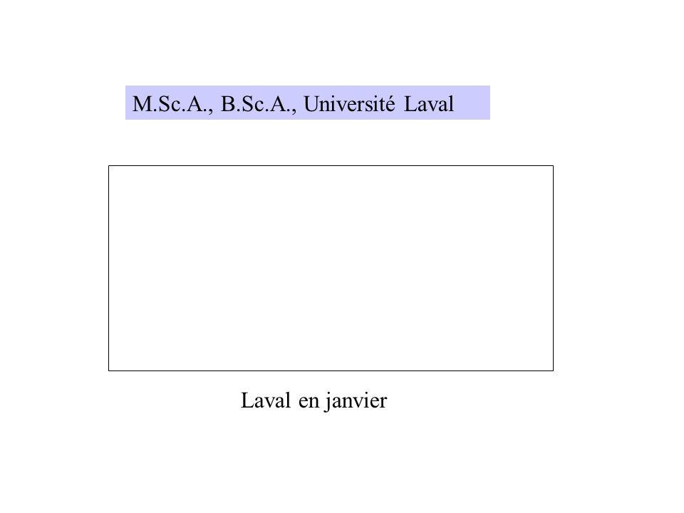 M.Sc.A., B.Sc.A., Université Laval