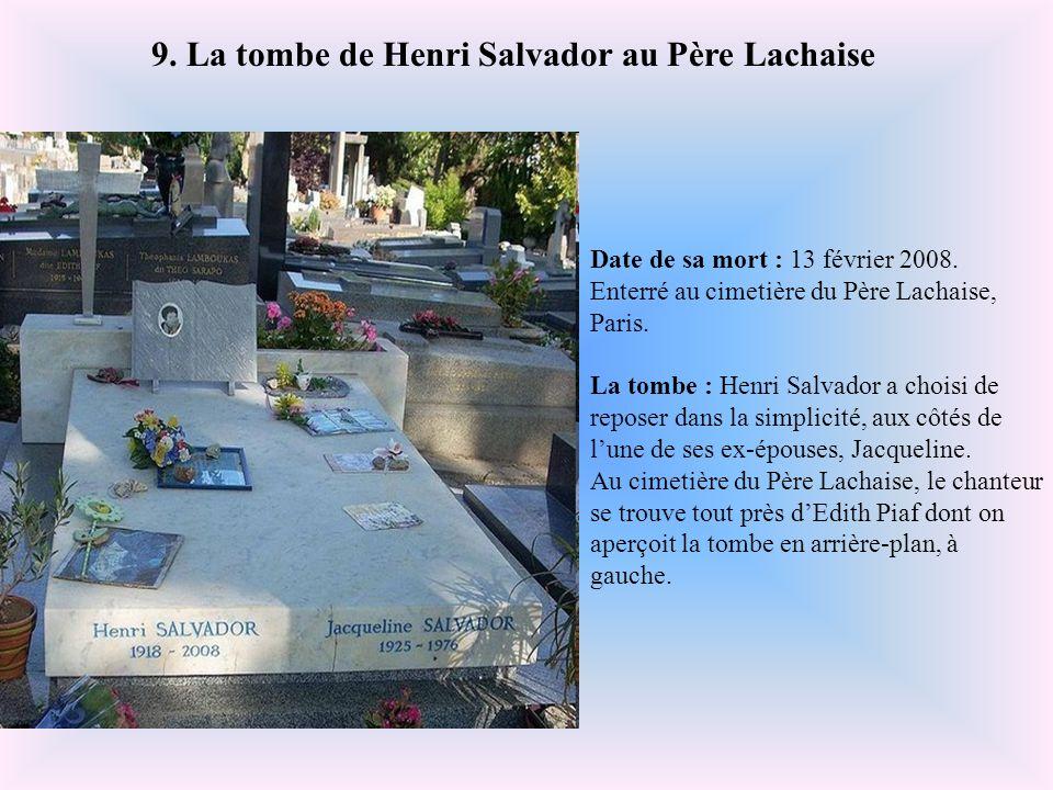 9. La tombe de Henri Salvador au Père Lachaise