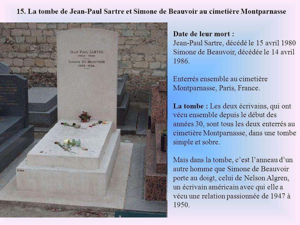 15. La tombe de Jean-Paul Sartre et Simone de Beauvoir au cimetière Montparnasse