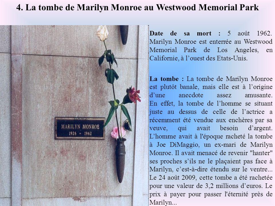 4. La tombe de Marilyn Monroe au Westwood Memorial Park