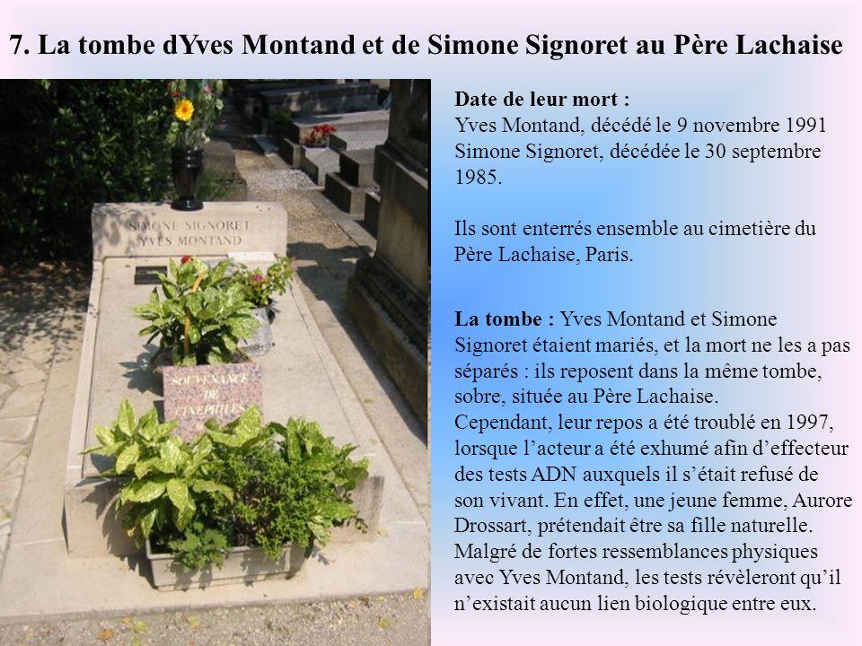 7. La tombe dYves Montand et de Simone Signoret au Père Lachaise