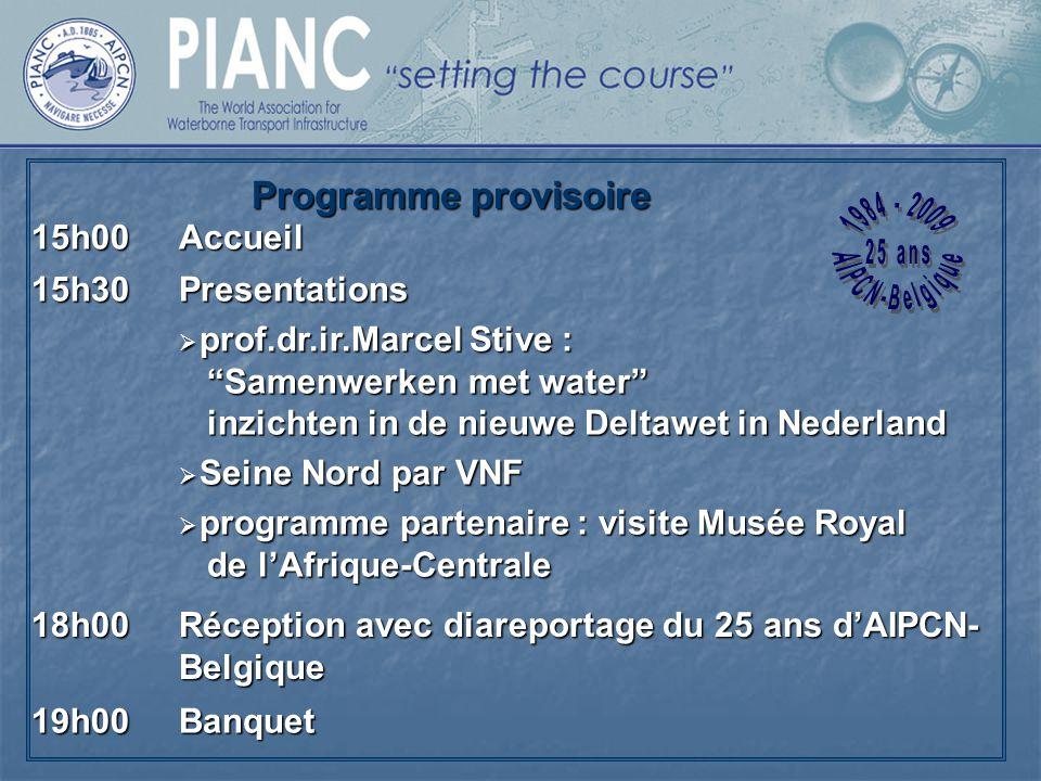Programme provisoire 15h00 Accueil 15h30 Presentations