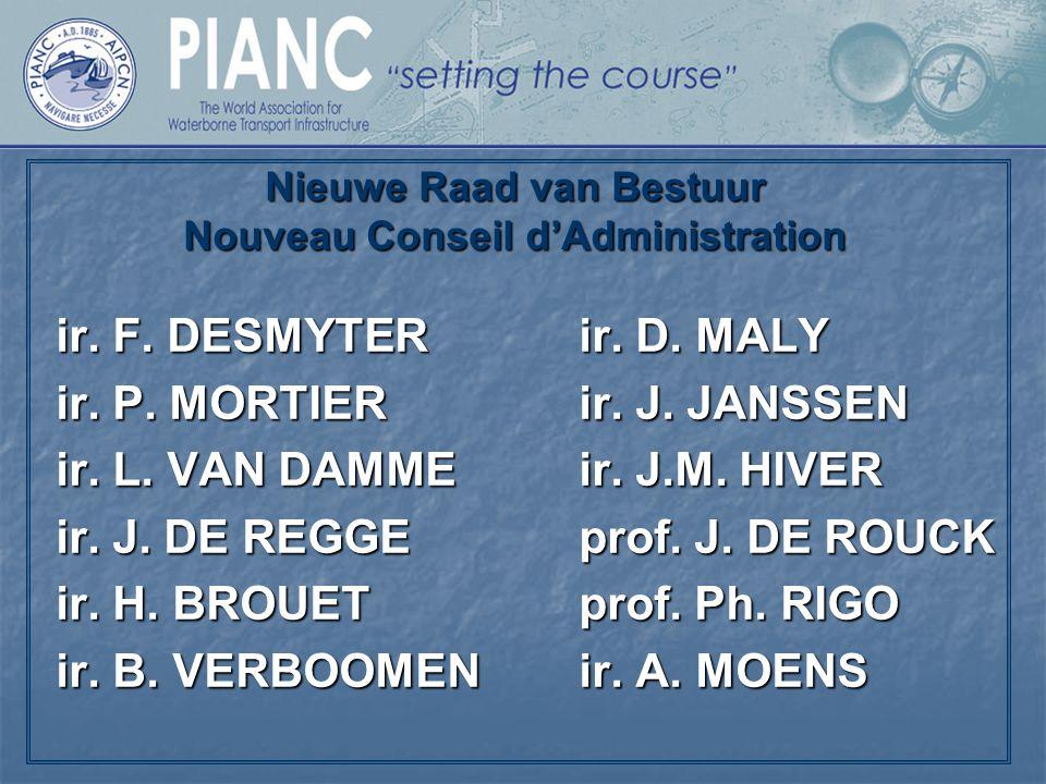 Nieuwe Raad van Bestuur Nouveau Conseil d'Administration