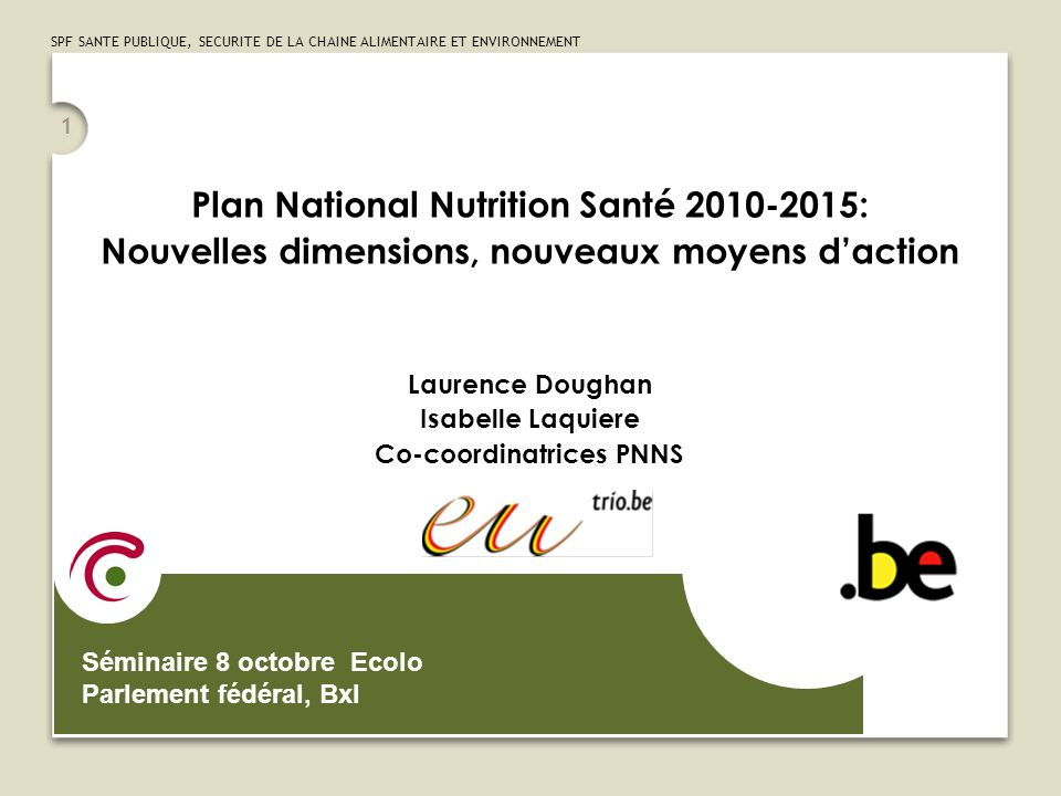 Plan National Nutrition Santé 2010-2015:
