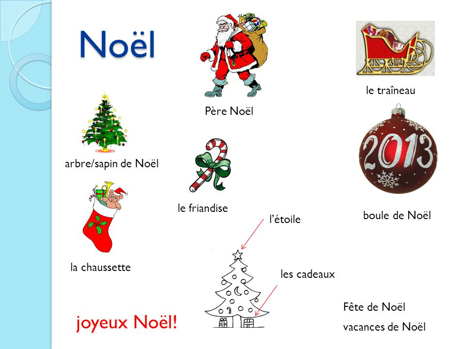 Noël joyeux Noël! le traîneau Père Noël arbre/sapin de Noël