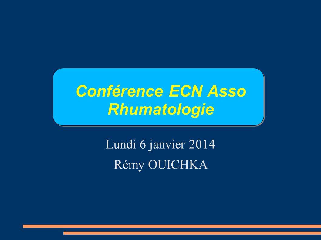 Conférence ECN Asso Rhumatologie