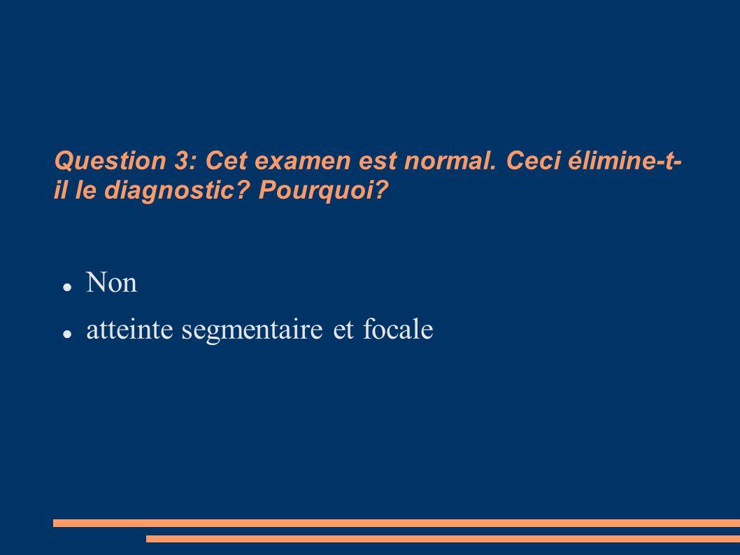 atteinte segmentaire et focale