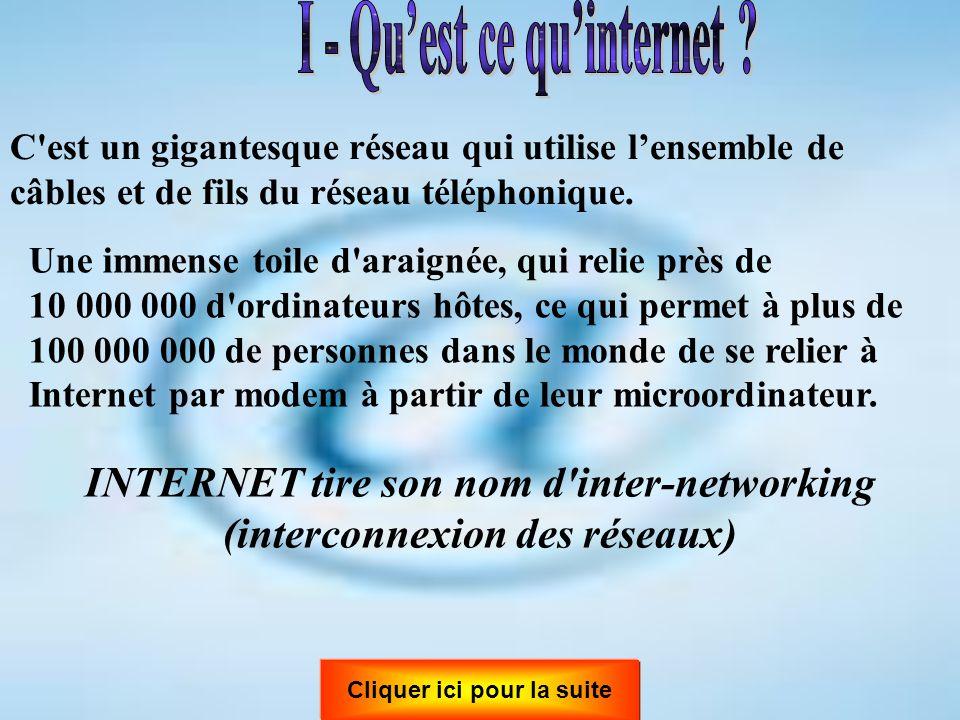 I - Qu'est ce qu'internet
