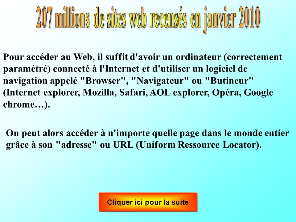 207 millions de sites web recensés en janvier 2010