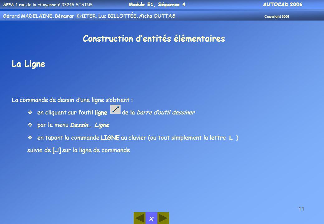 Construction d'entités élémentaires