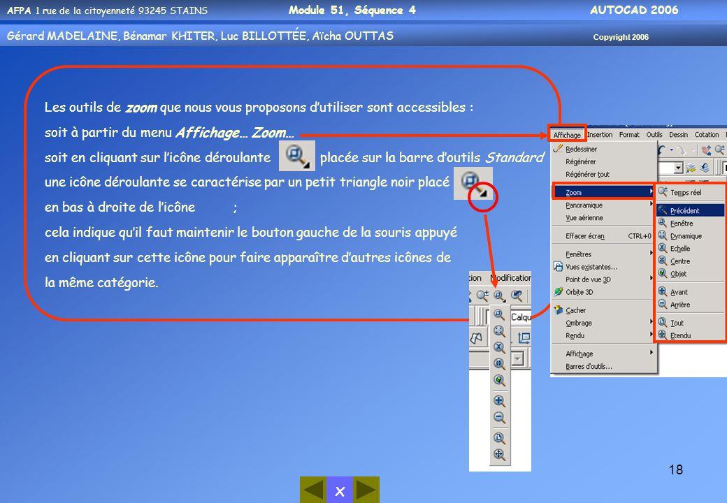 Les outils de zoom que nous vous proposons d'utiliser sont accessibles :