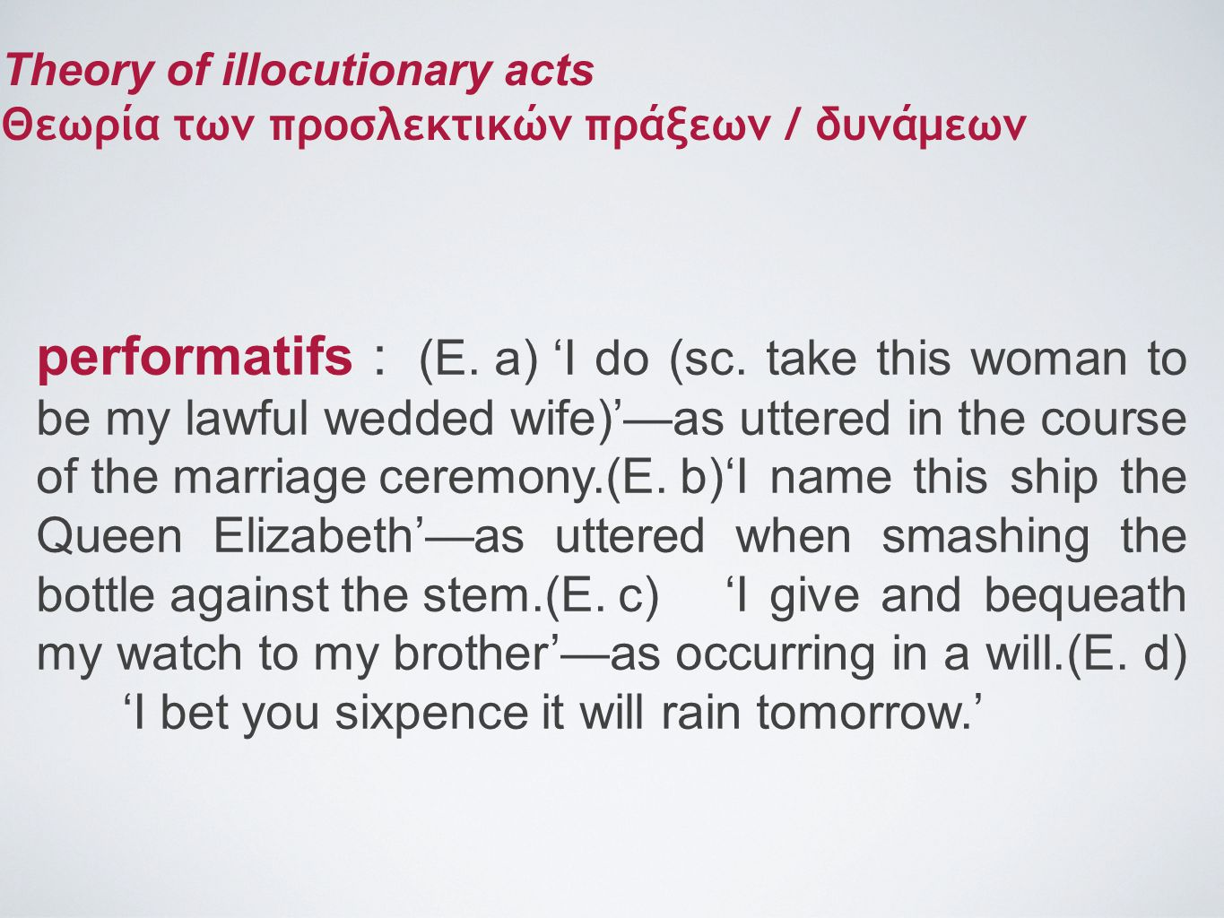 Theory of illocutionary acts