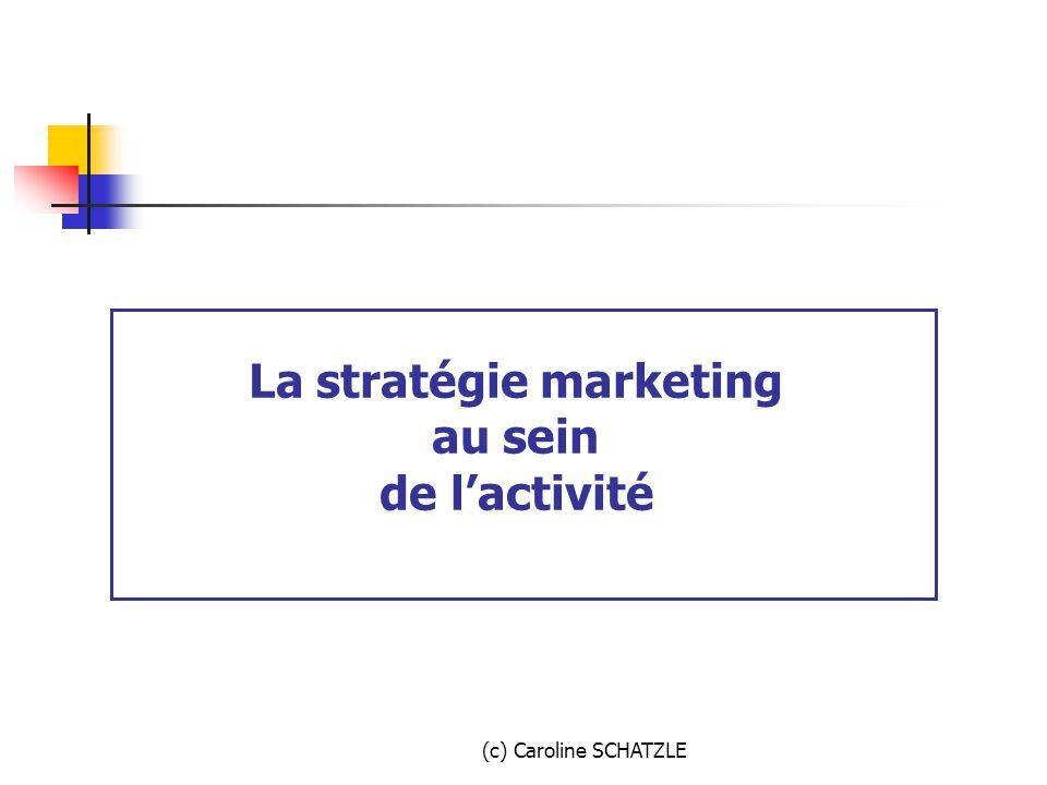 La stratégie marketing au sein de l'activité