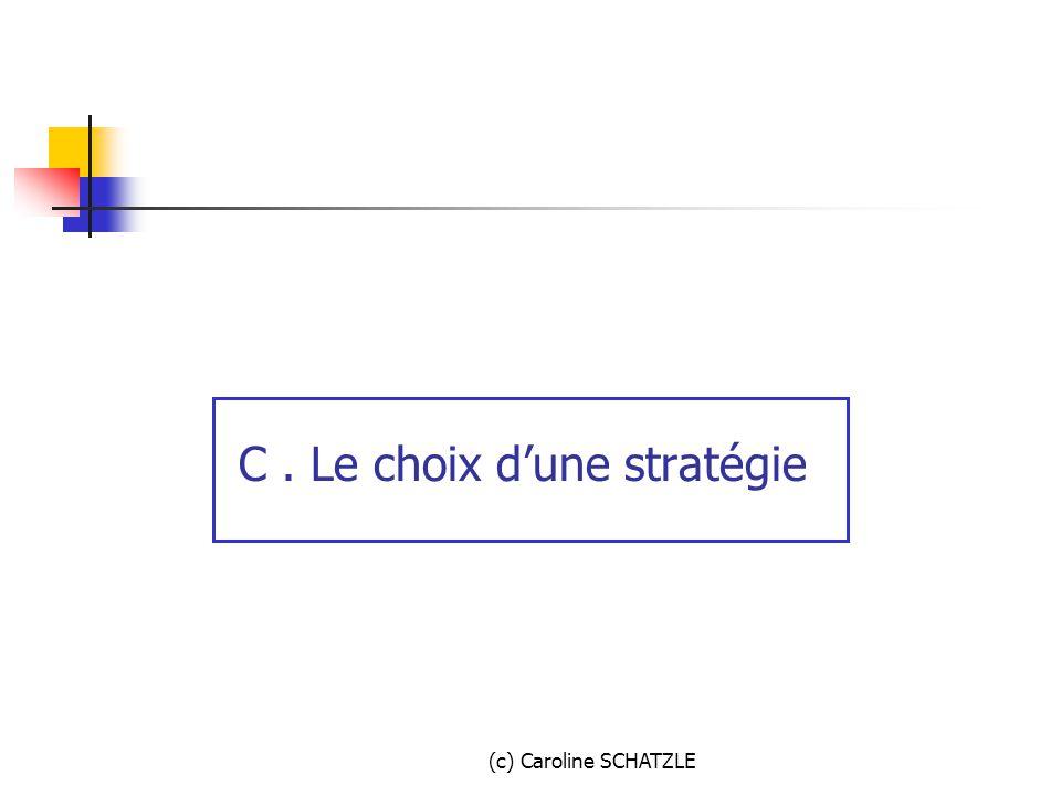 C . Le choix d'une stratégie