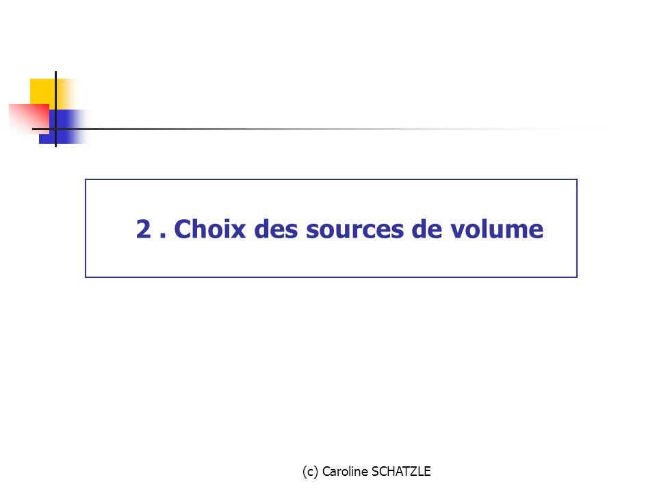 2 . Choix des sources de volume
