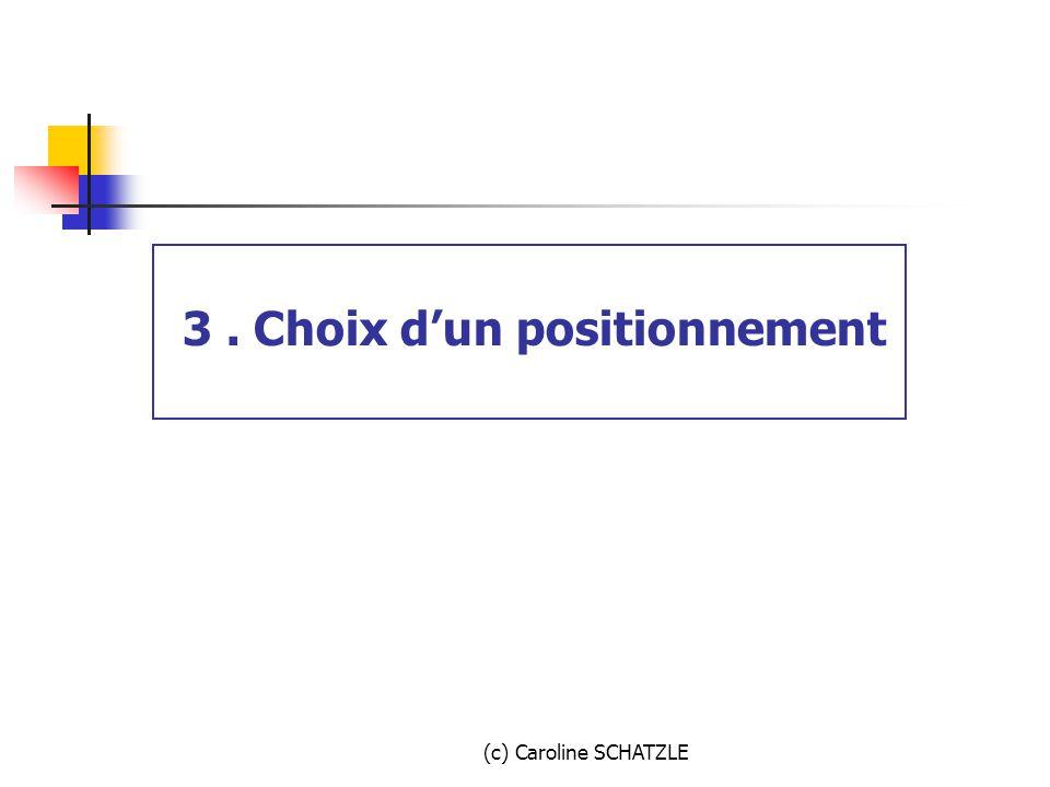 3 . Choix d'un positionnement