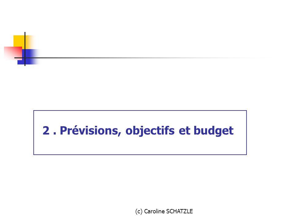 2 . Prévisions, objectifs et budget