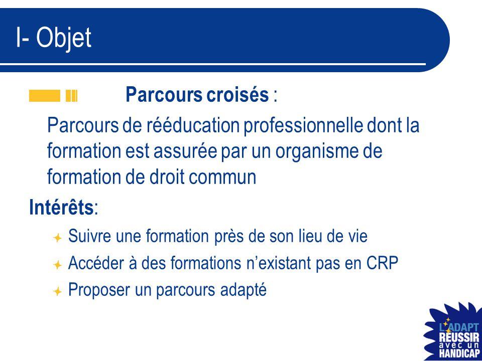 I- Objet Parcours croisés :