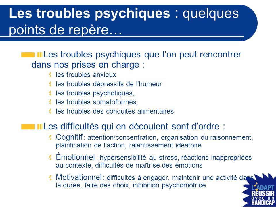 Les troubles psychiques : quelques points de repère…