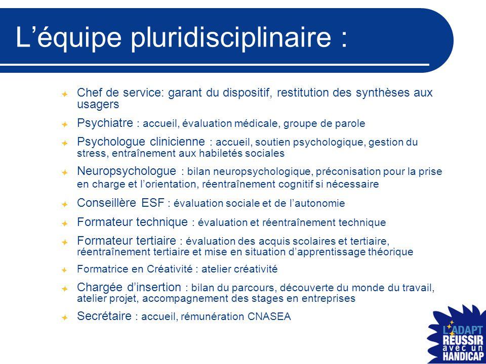 L'équipe pluridisciplinaire :