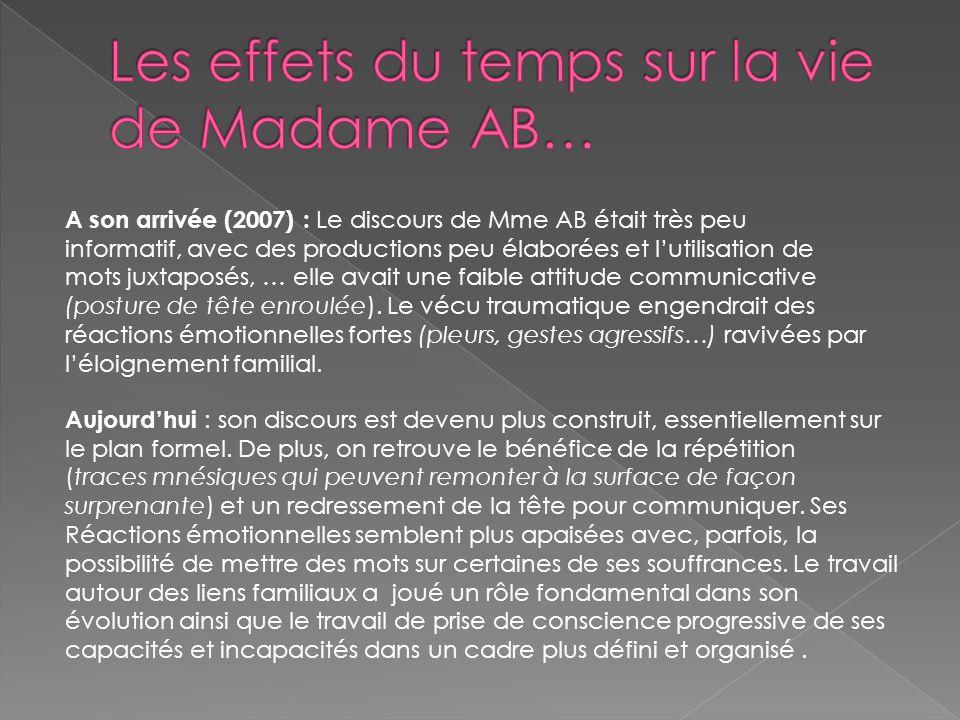 Les effets du temps sur la vie de Madame AB…