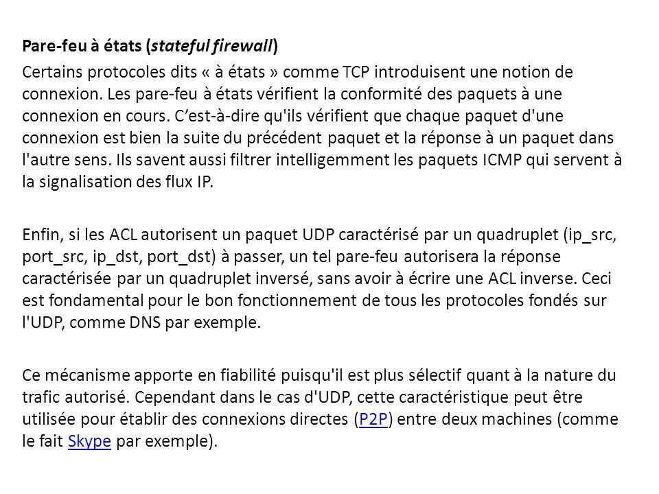 Pare-feu à états (stateful firewall)