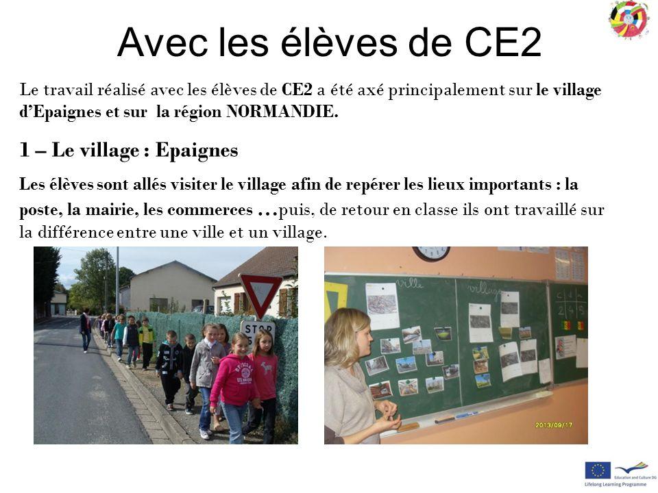 Avec les élèves de CE2 1 – Le village : Epaignes