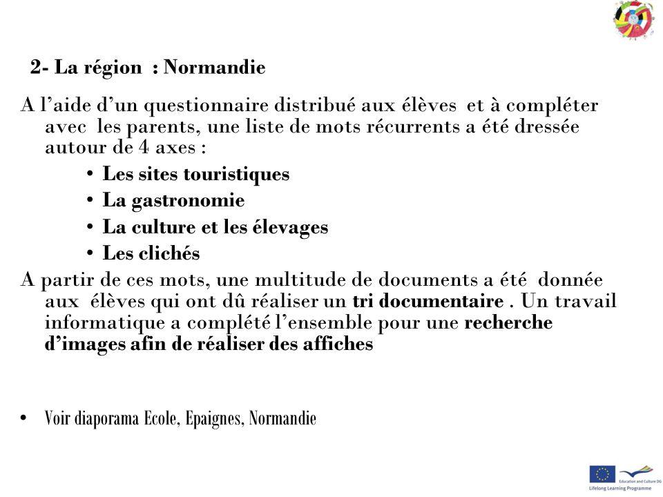 2- La région : Normandie