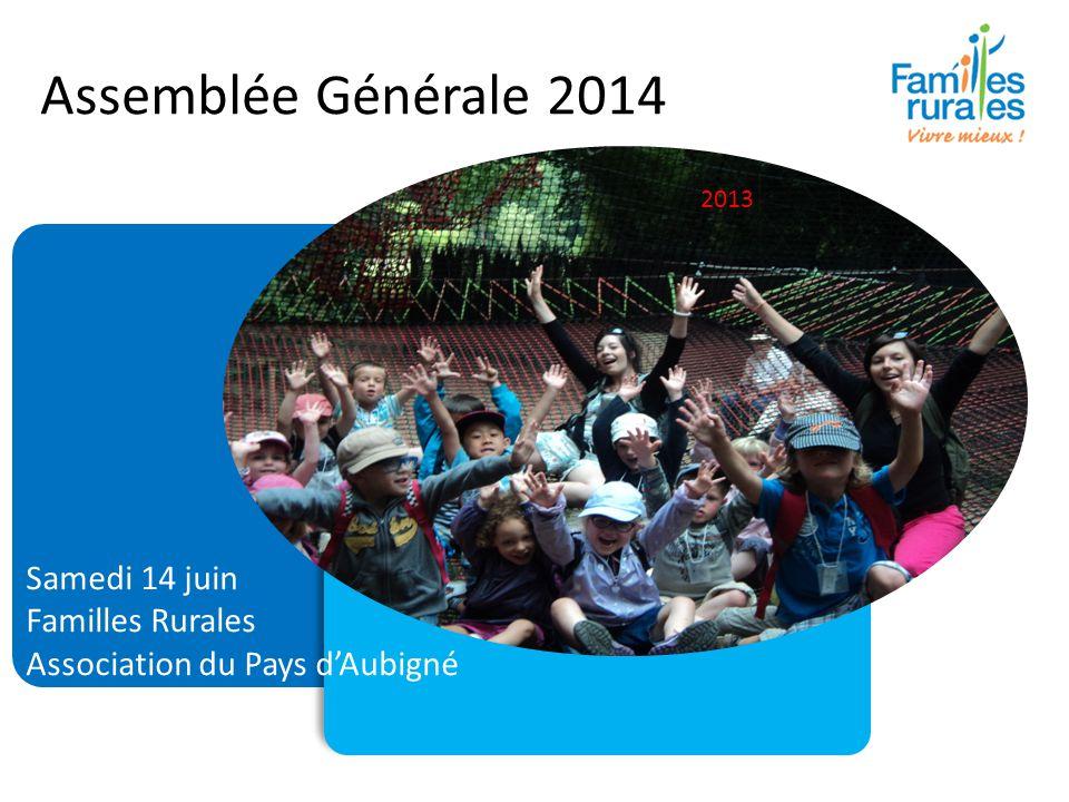 Assemblée Générale 2014 Samedi 14 juin Familles Rurales