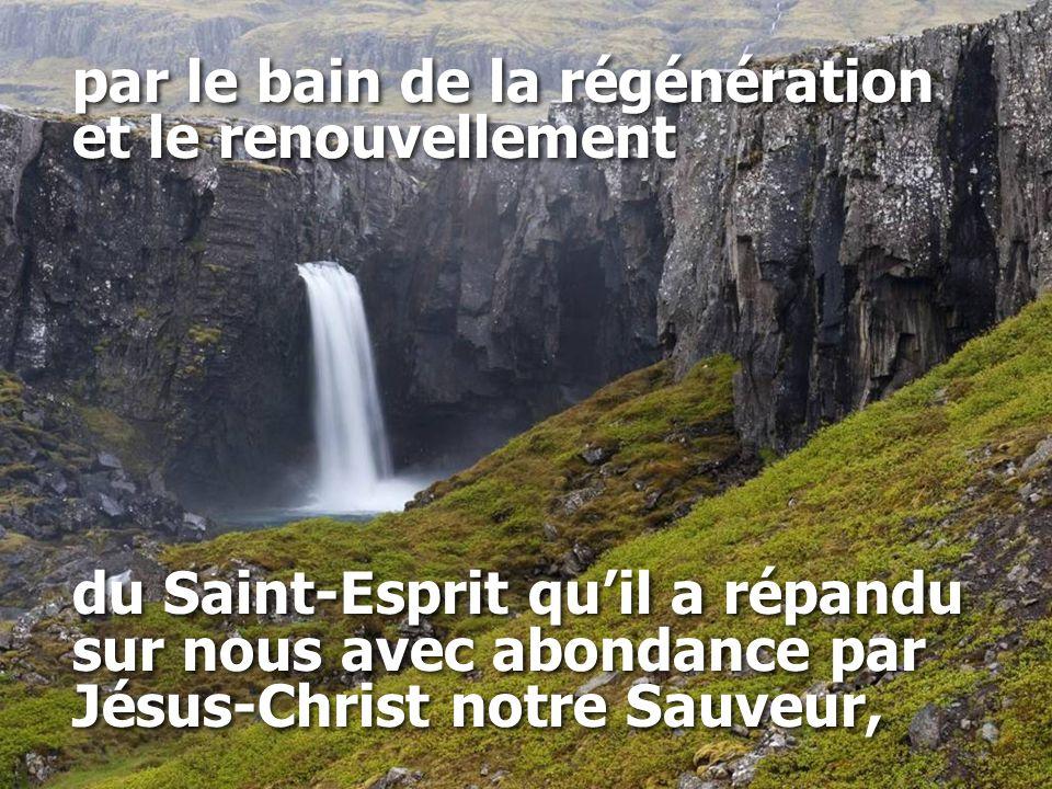 par le bain de la régénération et le renouvellement