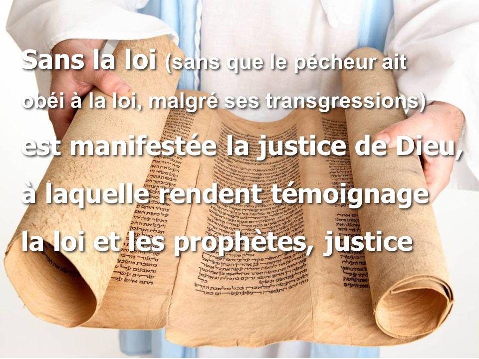 Sans la loi (sans que le pécheur ait