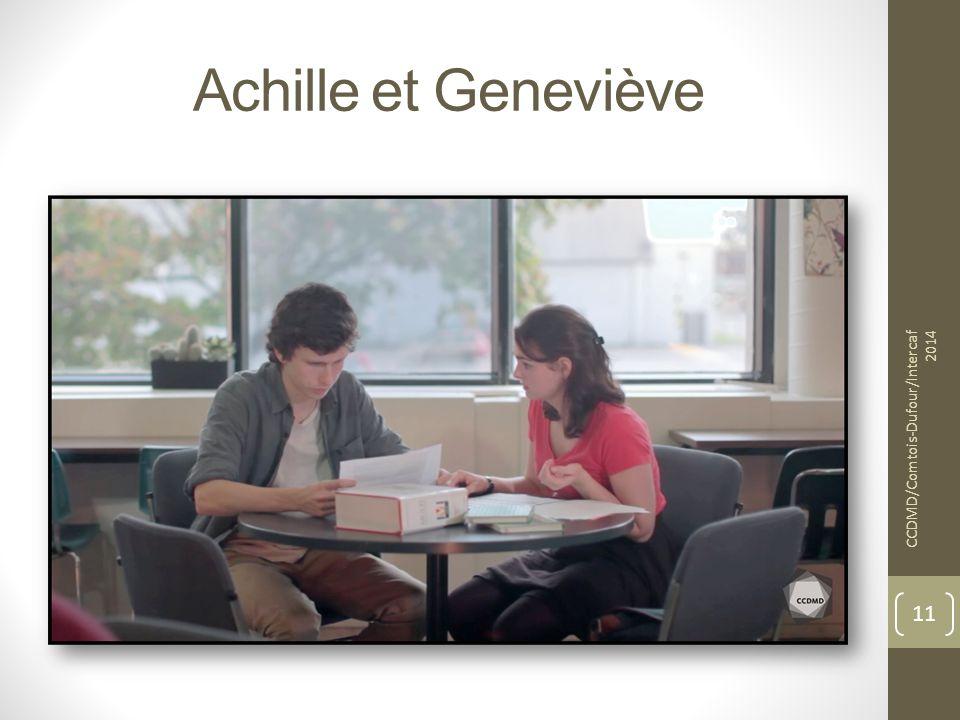 Achille et Geneviève CCDMD/Comtois-Dufour/Intercaf 2014