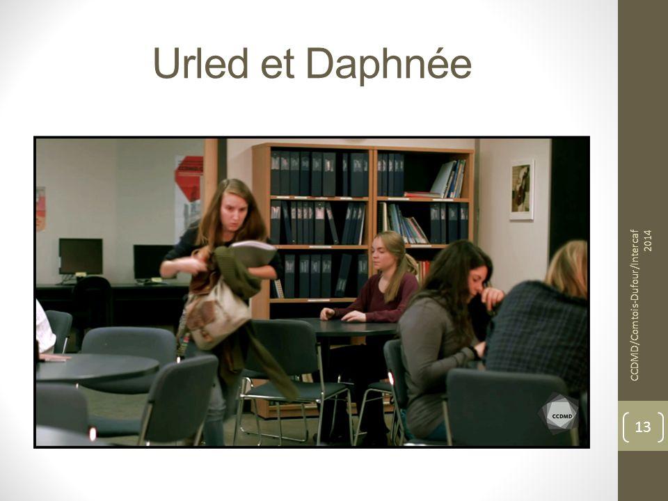 Urled et Daphnée CCDMD/Comtois-Dufour/Intercaf 2014