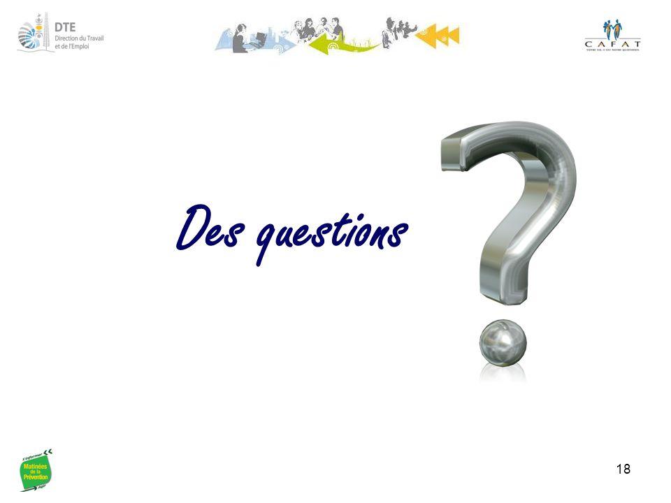 Des questions 18