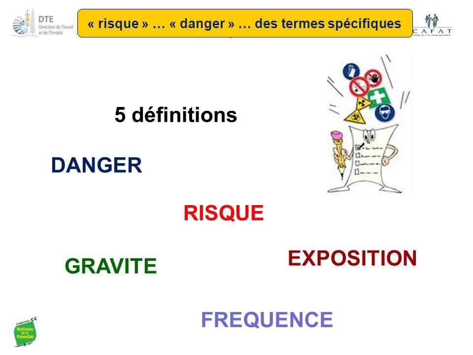 « risque » … « danger » … des termes spécifiques