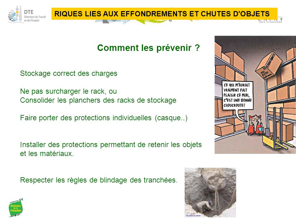 RIQUES LIES AUX EFFONDREMENTS ET CHUTES D OBJETS