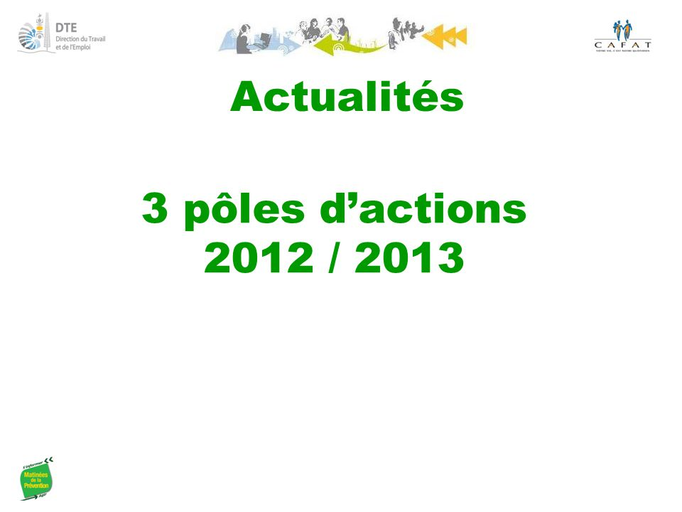 Actualités 3 pôles d'actions 2012 / 2013