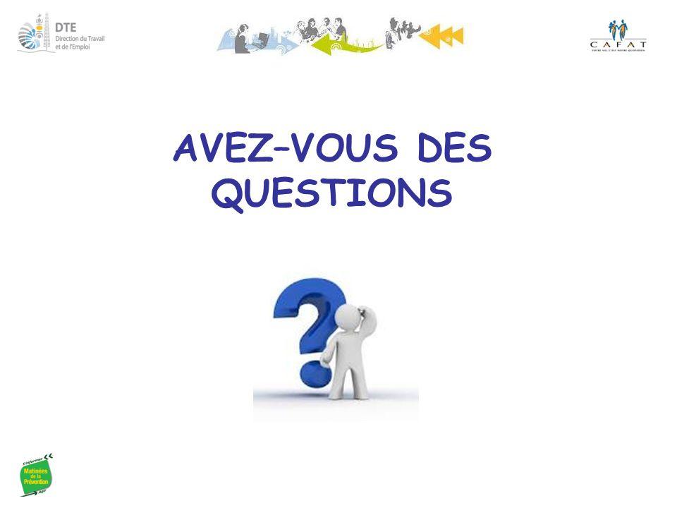 AVEZ–VOUS DES QUESTIONS
